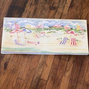 Paul Brent Watercolor Beach Scene Canvas Print